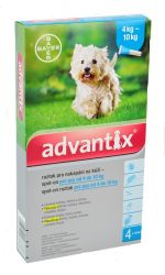 Advantix pro psy spot-on od 4 do 10kg 4x1ml