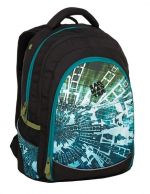 Bagmaster Studentský batoh DIGITAL 9 B BLUE/GREEN/BLACK 24 l