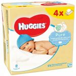 Huggies wipes quad (4x64) pure