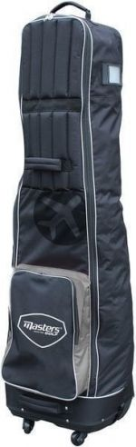 Masters Golf Deluxe 4 Wheeled Flight Cover Black/Grey