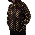 Mikina Wu-Wear Wu-Tang Clan Wuitton Zipper Hoodie Black - L