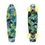 """Penny board Fish Print 22\"""" Pineapple-White-Summer Yellow"""