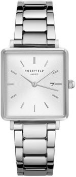 Rosefield The Boxy White Sunray Steel Silver QWSS-Q042