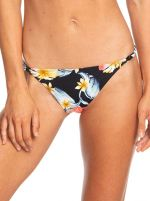 Roxy Plavkové kalhotky Dreaming Day Moderate Bottom Anthracite Tropical Love S ERJX403706-KVJ6 L