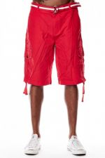 Southpole Cargo Shorts Deep Red 9001-3341 - 36