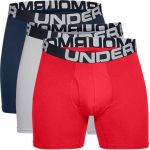 Under Armour Charged Cotton 15 cm Boxerjock 3-Pack Red S