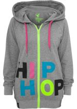 Urban Dance Hip Hop Ziphoodie lightgrey/multicolour - M