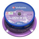 Verbatim DVD+R DL 8.5GB 8x, AZO, spindle, 25ks 43757