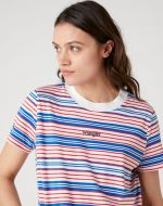 Wrangler dámské triko  HIGH RIB REGULAR TEE BIT OF BLUE